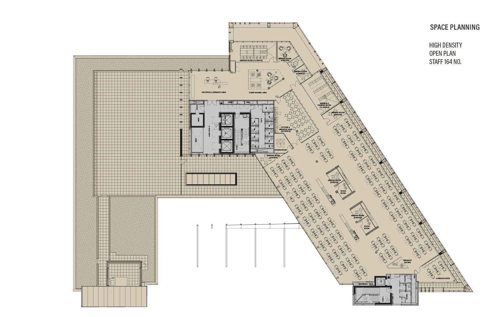 Ninth Floor Plan - Space Planning - High