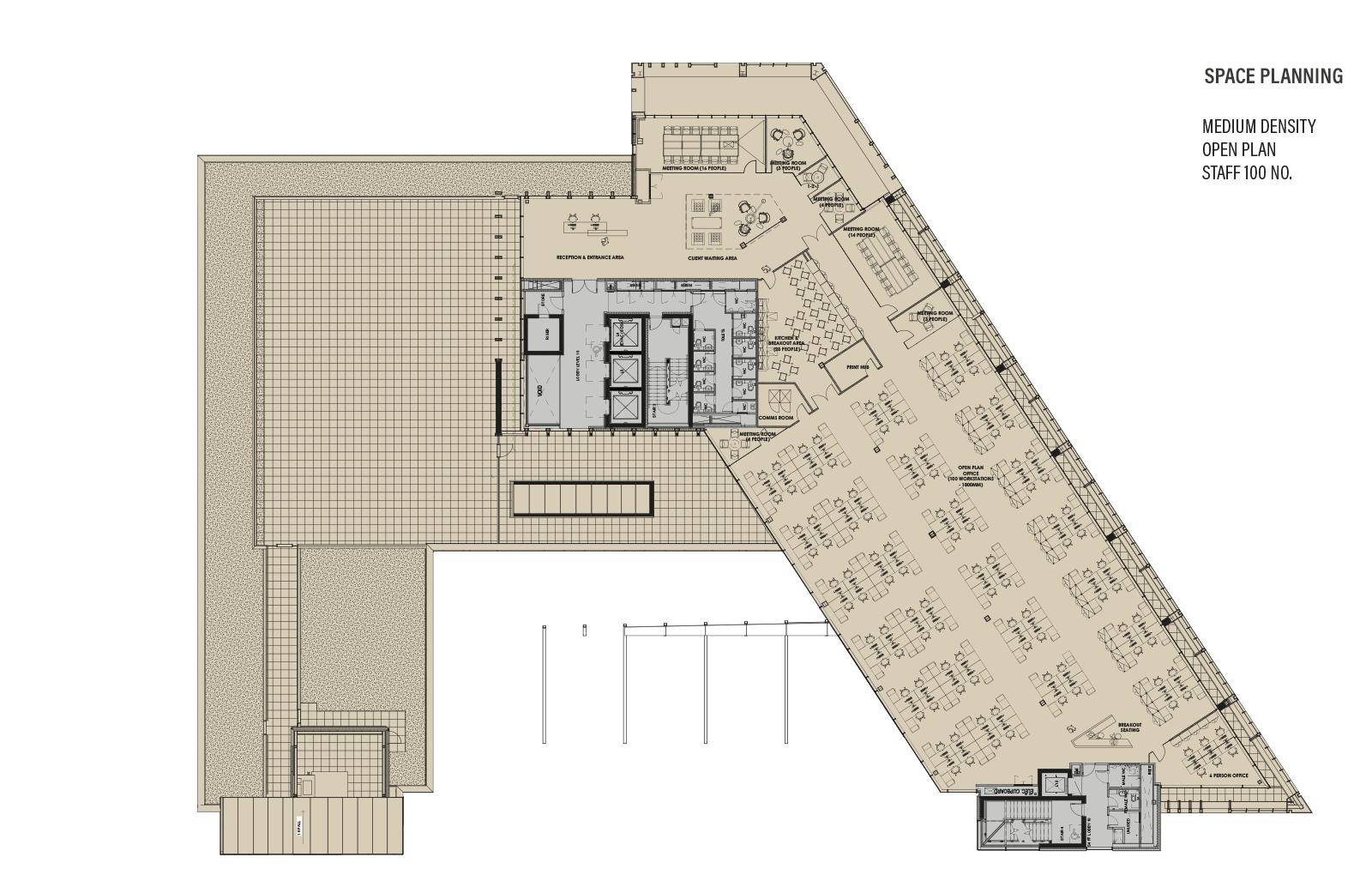 Ninth Floor Plan - Space Planning Medium