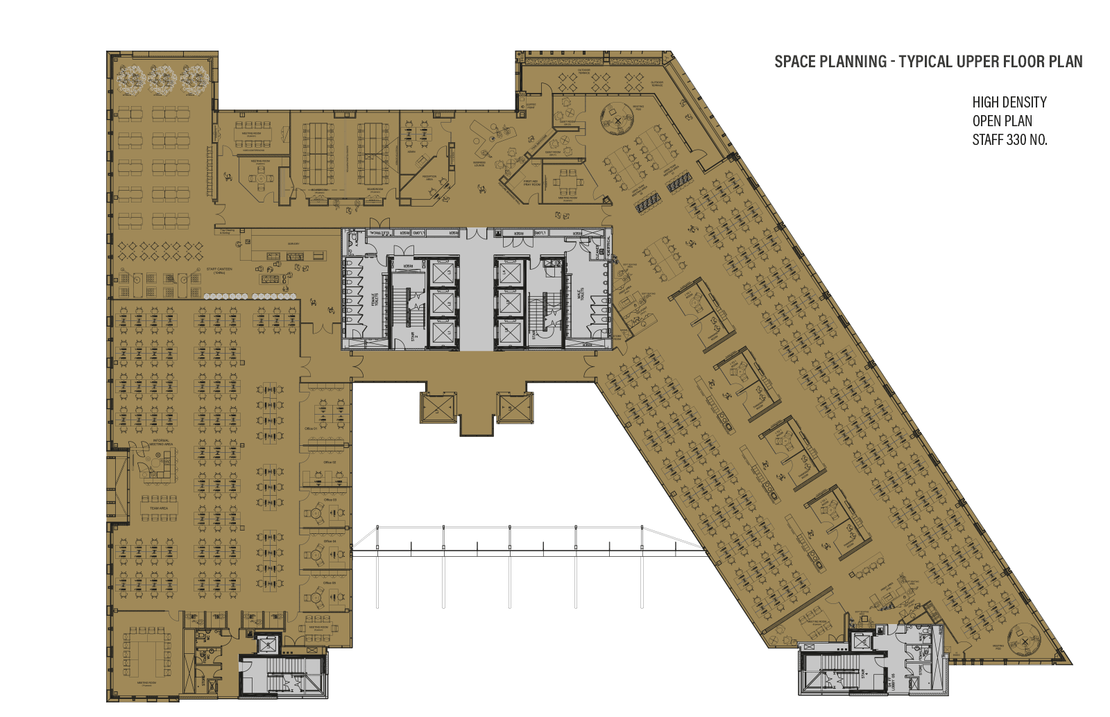 Typical Upper Floor - Space Planning - High